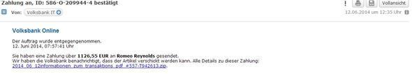 Die Mail habe ich bekommen - (Betrug, Email)