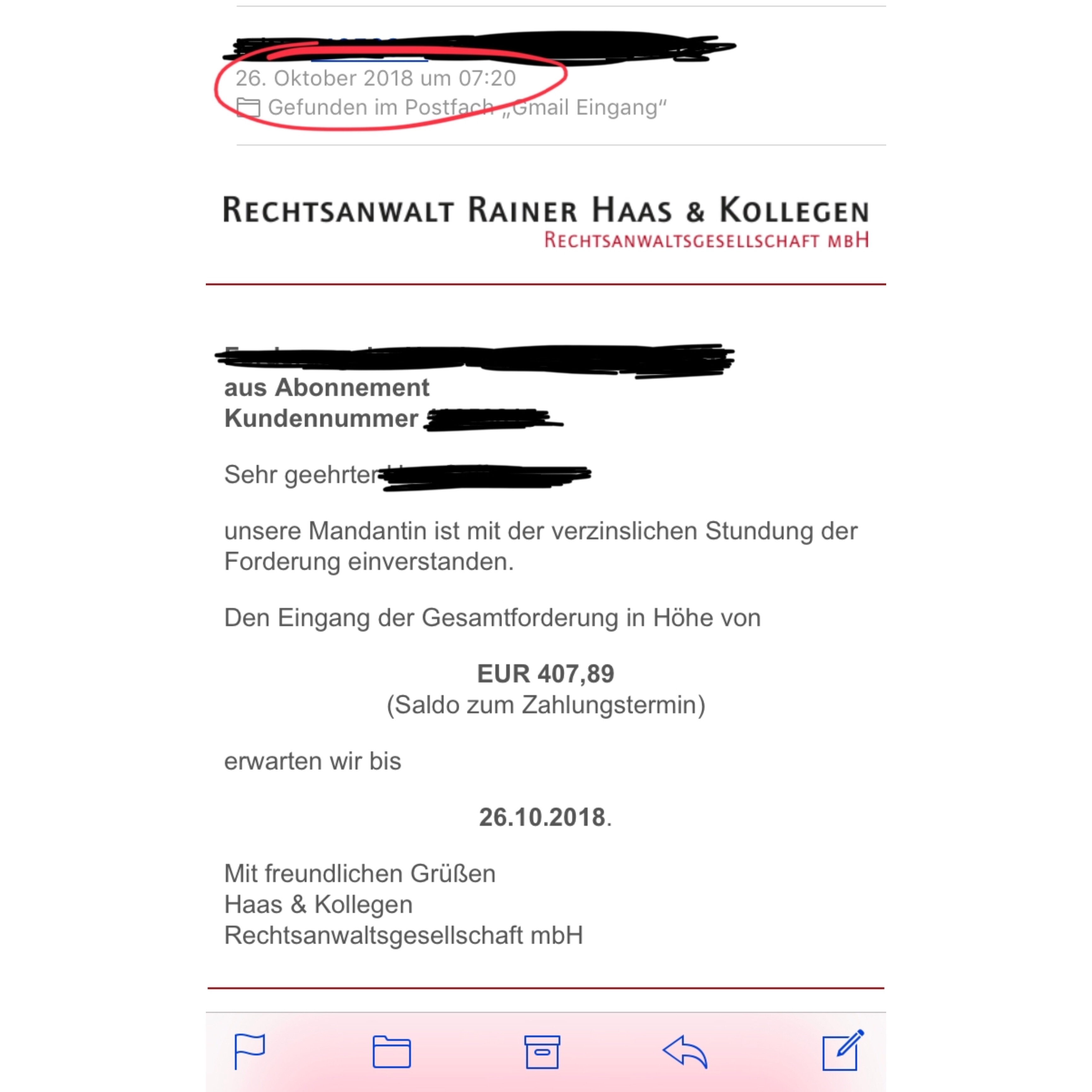 Betrug Zahlungsaufforderung Rainer Haas Kollegen Aus Baden Baden