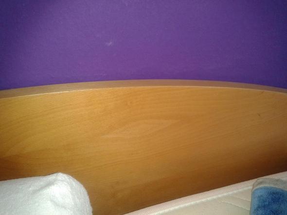 Bett 1 - (Bett, lackieren, Schlafzimmer)