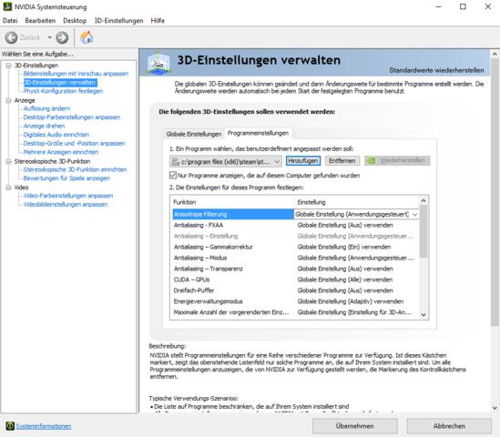 NVIDIA Systemsteuerung - (PC, Spiele, Grafikkarte)