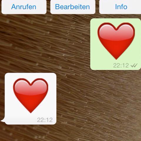 Herz-Symbol - (iPhone, WhatsApp, Update)