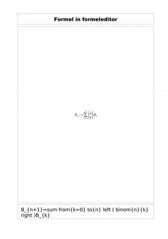 Ausgangsformel - (Mathematik, Partition, menge)