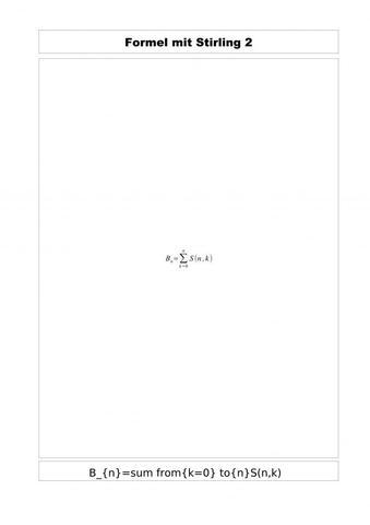 alternative Formel - (Mathematik, Partition, menge)