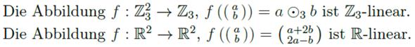 Beweisen/Widerlegen, ob eine Funktion linear ist?