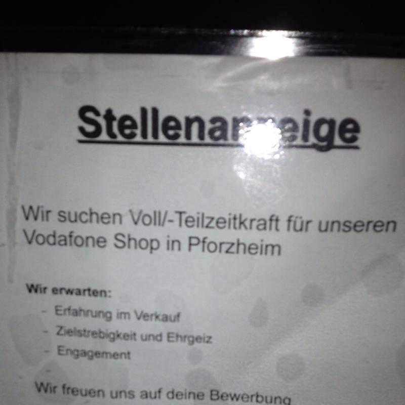 Bewerbung Für Einen Teilzeit Job In Einen Vodafone Shop?! (Arbeit