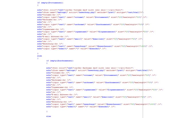 Quellcode2 - (Bewerbung, programmieren, Webseite)