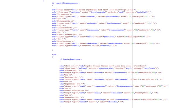 Quellcode3 - (Bewerbung, programmieren, Webseite)