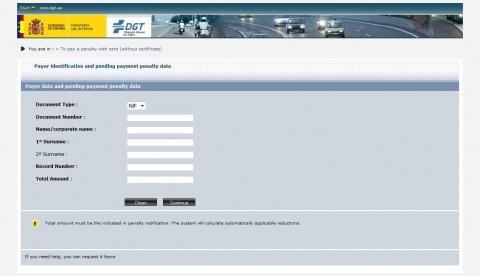spanische Webseite - (Eltern, Bußgeld, Ausländische Behörden)