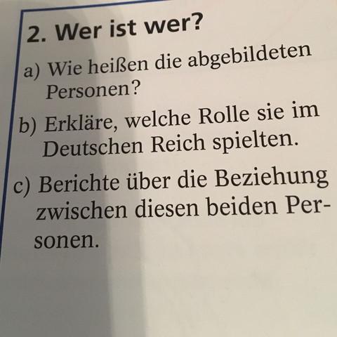 Die Personen sind Otto von Bismarck und Wilhelm II - (Schule, Geschichte)