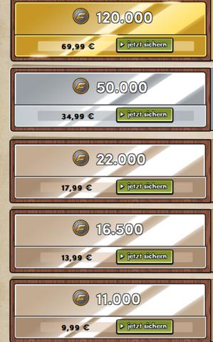 Hier die Paysafecard Preise. - (Paysafecard, Battlefield Heroes, BFH)