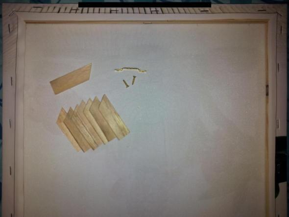 Keilrahmen und Zubehör - (Bilder, Holz, aufhängen)