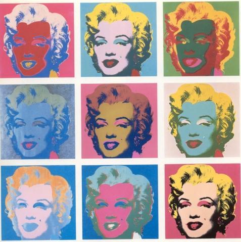 Andy Warhol : Marylin - (Kunst, Bildende Kunst, Andy Warhol)