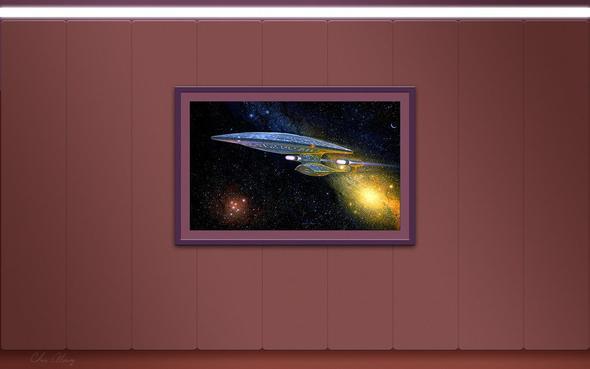 enterprise - (Gemälde, Star-Trek, Enterprise)