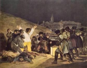 die erschiessung der aufstaendischen im Manzanares tal - (Kunst, Kultur, Art)
