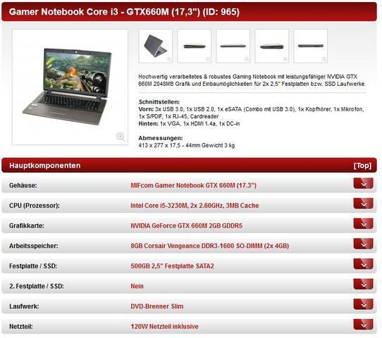 Screenshot zur Auswahl - (Computer, Grafikkarte, Notebook)