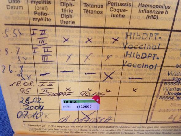 Impfpass - (Gesundheit, Arzt, Krankheit)