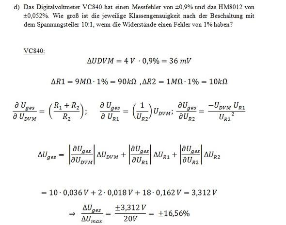 Aufgabe - (Physik, Elektrotechnik, fehlerrechnung)