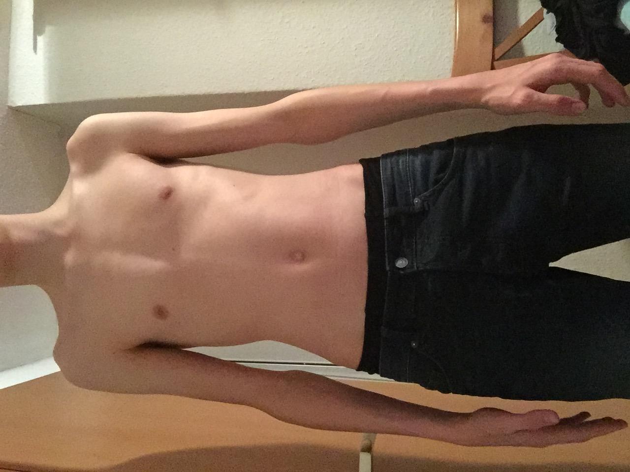 Bin ich zu dünn? oder ist das schon gut so? (Körper, Junge)