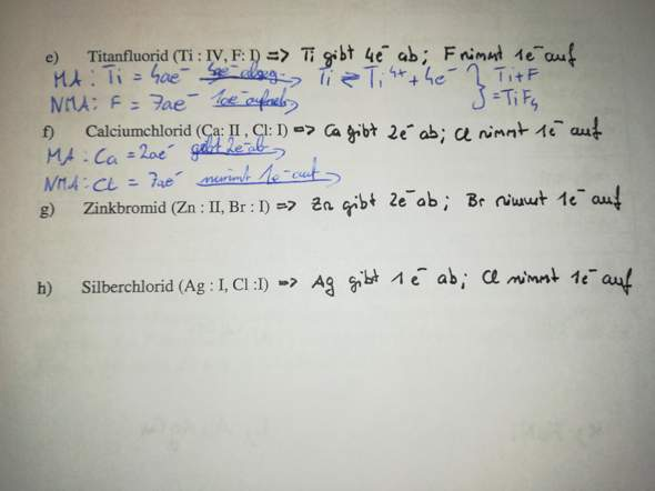 Bindungen in Chemie?