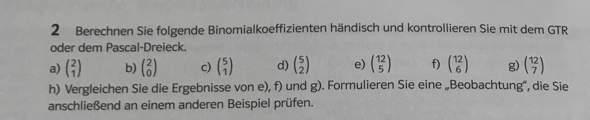 Binomialkoeffizienten?
