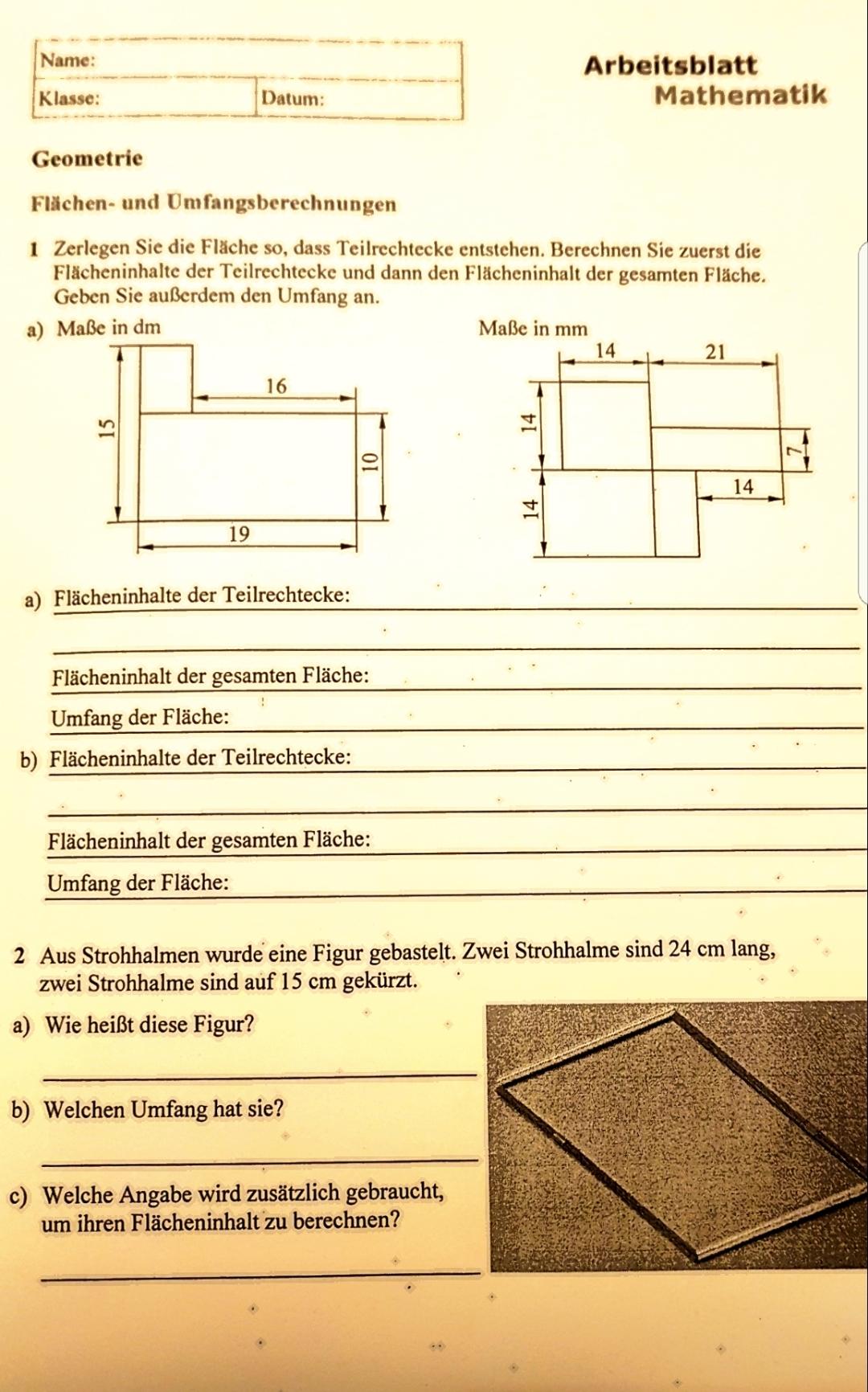 Arbeitsblätter Mathe Klasse 1 Zahlen Zerlegen