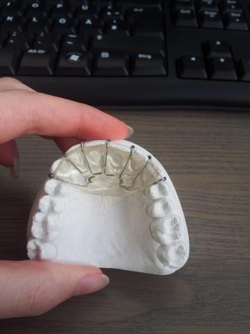 Aufbissplatte von Innen - (Zähne, Zahnspange)