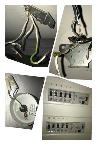 Stromkabel: Braun, gelb-grün, blau und grau, schwarz, rot - was muß ...