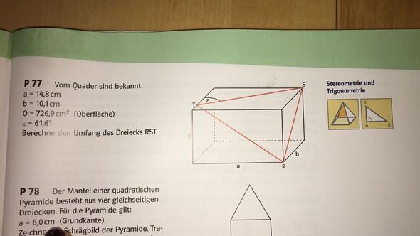 bitte um hilfestellung wie berechne ich den umfang des dreiecks mathematik stereometrie. Black Bedroom Furniture Sets. Home Design Ideas