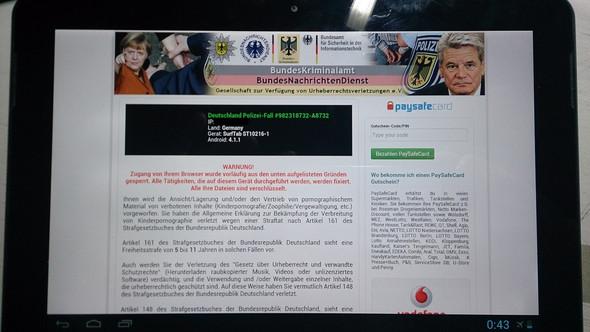 Homescreen... und da komme ich auch nicht weg/raus - (Android, bka-trojaner, Deutschland Polizei Fall)