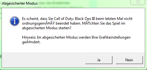 Abgesicherter Modus - (Computer, Games, Black Ops III)