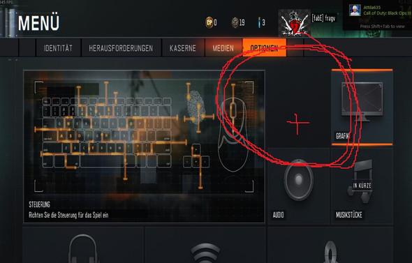 hier sollte im makierten bereich ein button sein - (black-ops, Bo3)