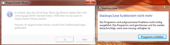 Black Ops 3 stürzt beim starten ab?
