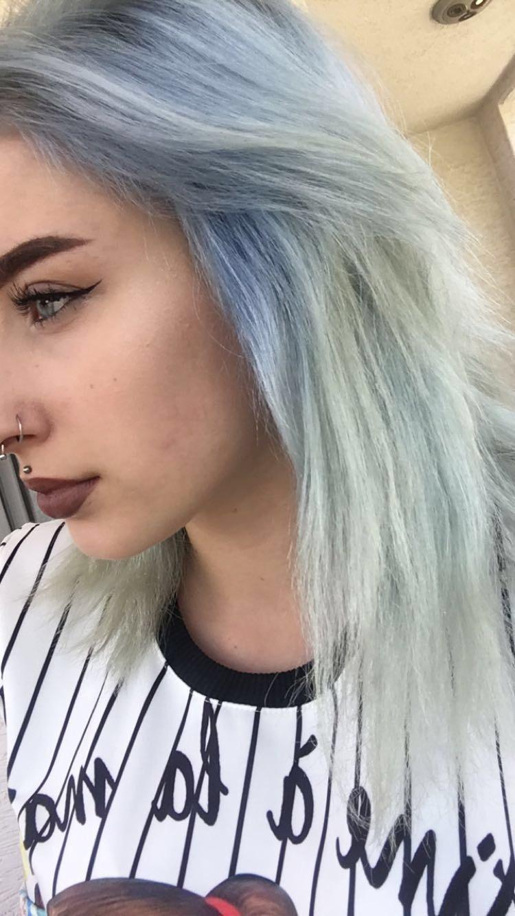 Blau aus Haar rausbekommen? (Haare, haarprobleme, blaue haare)