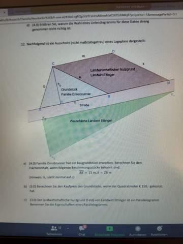 Blaue Dreieck ausrechnen wie?