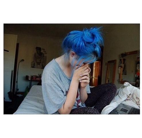 Blaue Haare Ohne Blondierung Hilfe Färben