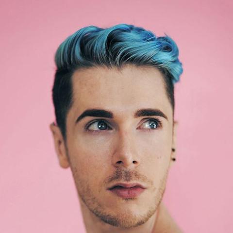 Blaue Haare Vs Braune Haare Männer Färben Blau