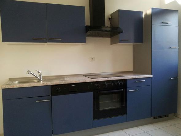Blaue Küche blaue küche wand