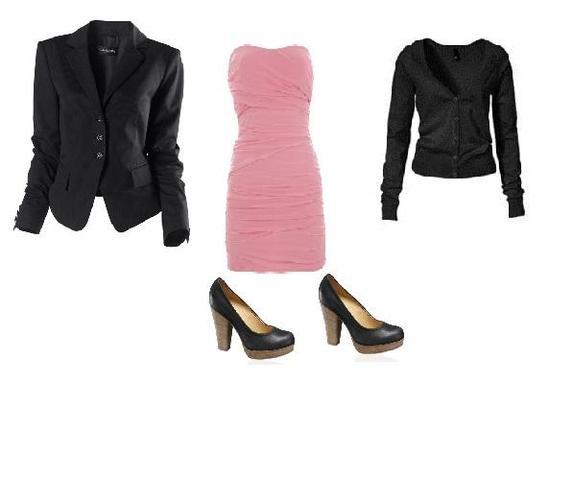 Kleid, Schuhe, und die 2 Teile die zur Auswahl stehen. - (Mode, Kleidung, Party)