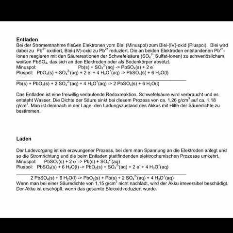 Eine zusammenfassung mit eigenen wörtern für jeweils beide texte danke im vorrau - (Auto, Chemie, Akku)