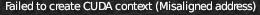 "Blender ""Failed to create CUDA context (Misaligned adress)""?"
