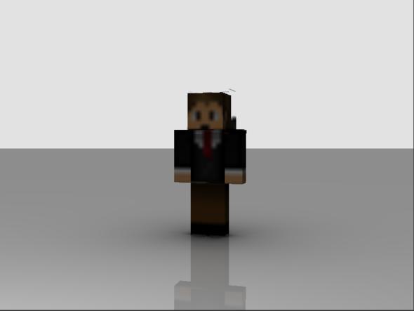 Blender: Minecraft Skin Wird Unscharf Dargestellt