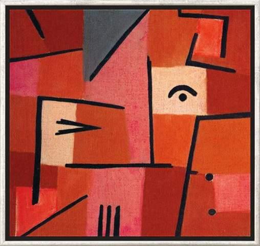 Blick aus rot epoche? Expressionismus oder Impressionismus?
