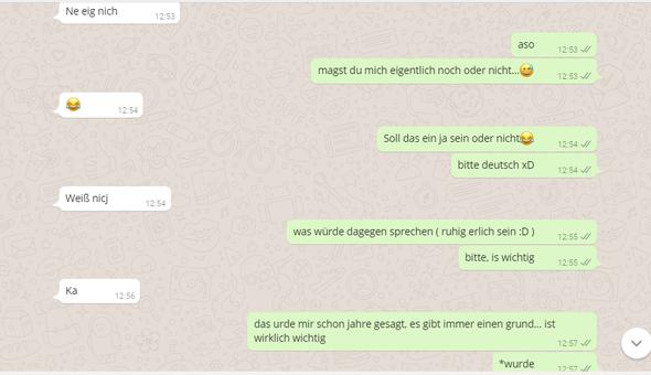Chatverlauf 2 - (Liebe, Jungs, WhatsApp)