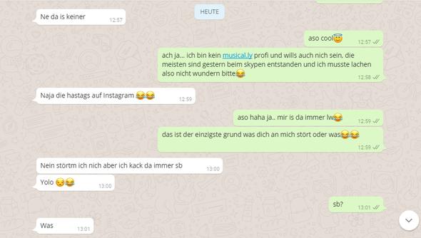 Chatverlauf 3 - (Liebe, Jungs, WhatsApp)