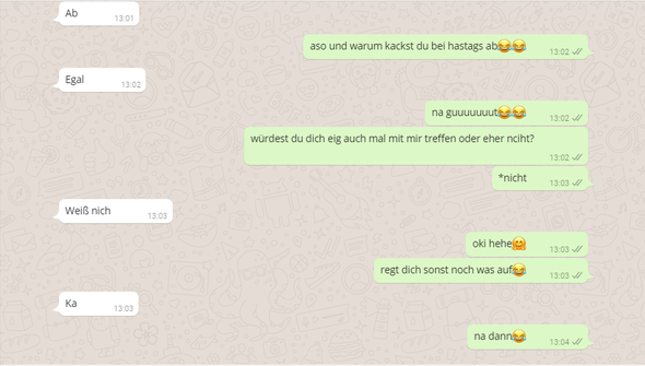 Chatverlauf 4 - (Liebe, Jungs, WhatsApp)
