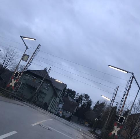 Blitzer An Bahnübergänge Siehe Foto Brief Straße Schrank