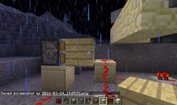 Block Bleibt In Der Luft Stehen Obwohl Er Mit Einem Sticky Pisten - Minecraft spiele schieben