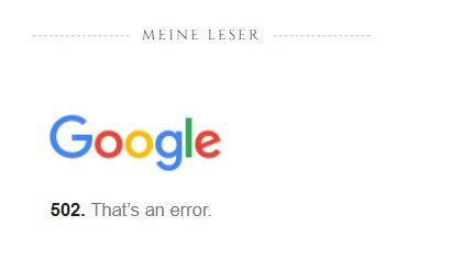 so wird mir die Fehlermeldung auf meinem Blog angezeigt - (Computer, Fehlermeldung, Blog)