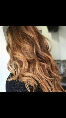 Haarfarbe auf braun