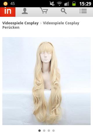 Cosplay Perücke in blond - (Schule, Alltag, Cosplay)